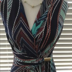 Sz 4 Ellen Tracy surplice dress